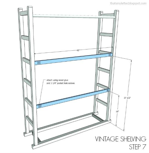 vintage shelving plans