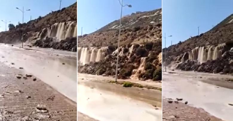 """هذه حقيقة عين الماء التي انفجرت بجبل أكادير """"أوفلا"""""""