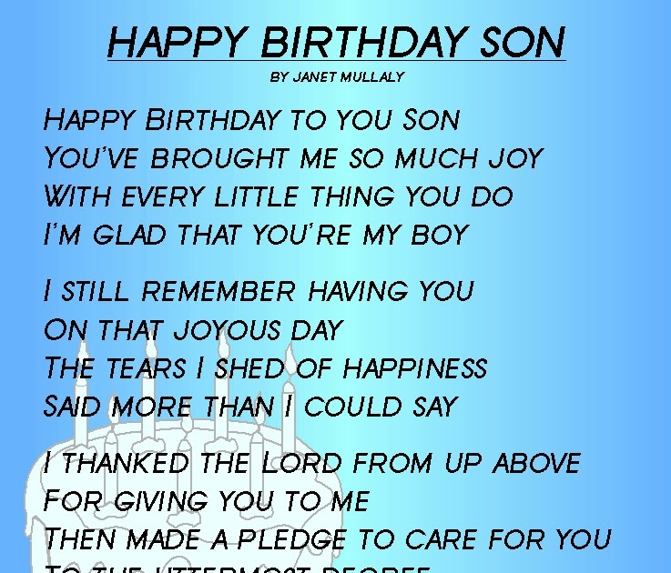 Happy Birthday To My Son Images And Quotes: Happy Birthday Quotes To My Son