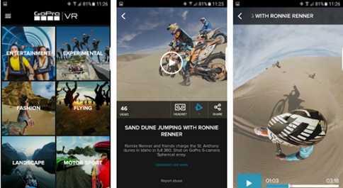 Aplikasi GOPro VR android