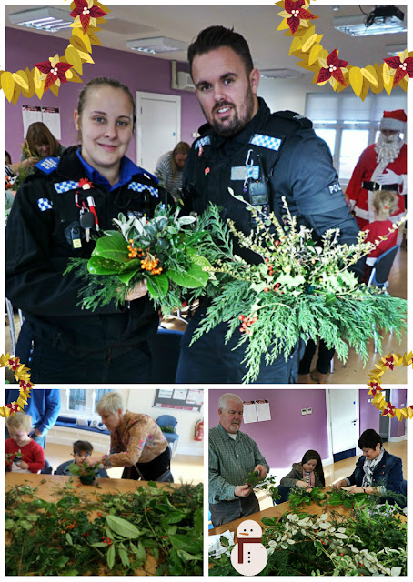 Festive Foliage decoration workshop at PCP's Christmas Fair. PCP