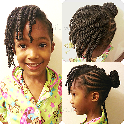 beautifully curled cornrow hairstyle