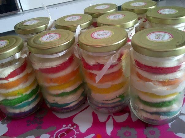 Resep Cake In Jar Rainbow: Zetyfondantcupcakes.blogspot.com: July 2013