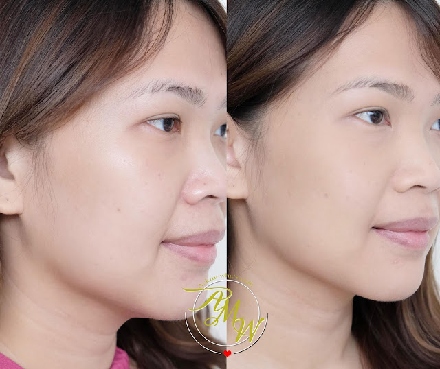 before and after photo of Pink Sugar Our Lil' Secret All Day Matte Powder Review by Nikki Tiu of www.askmewhats.com
