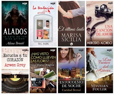 catálogo Harlequín 2018_sellos editoriales de novela romántica