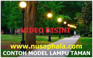 contoh model lampu taman