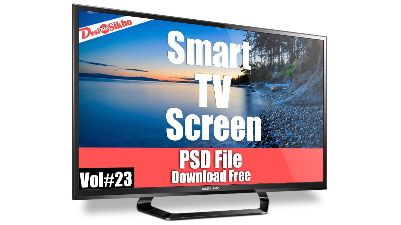 smart tv screen psd template download free vol 23 desi me sikho