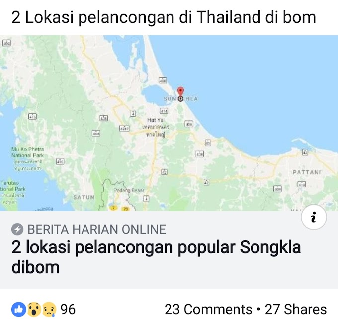 Letupan Bom di Pantai Samila Songkhla