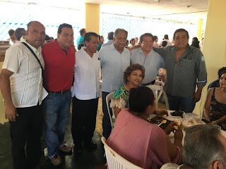 Posada navideña frente progresista Eloy Cisneros morena