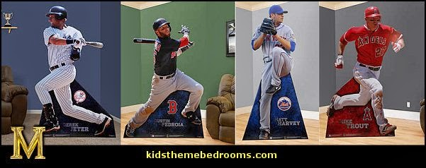 baseball bedroom decorating ideas - baseball bedroom decor - boys baseball theme bedrooms - Baseball Room Decor - baseball wall murals - baseball wall decals