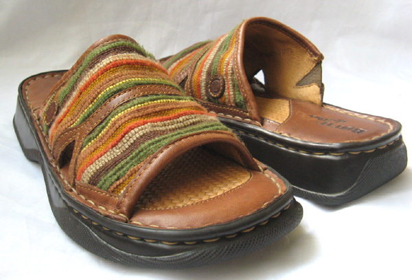 Born Slide Shoes Navajo Woven Women Size 8