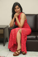 Sakshi Kakkar in Red Legsplit Sleeveless Gown at Dare movie Press meet ~  Exclusive 051.JPG