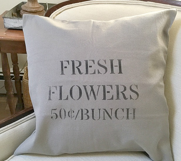 Making Fresh Flowers Pillow Covers