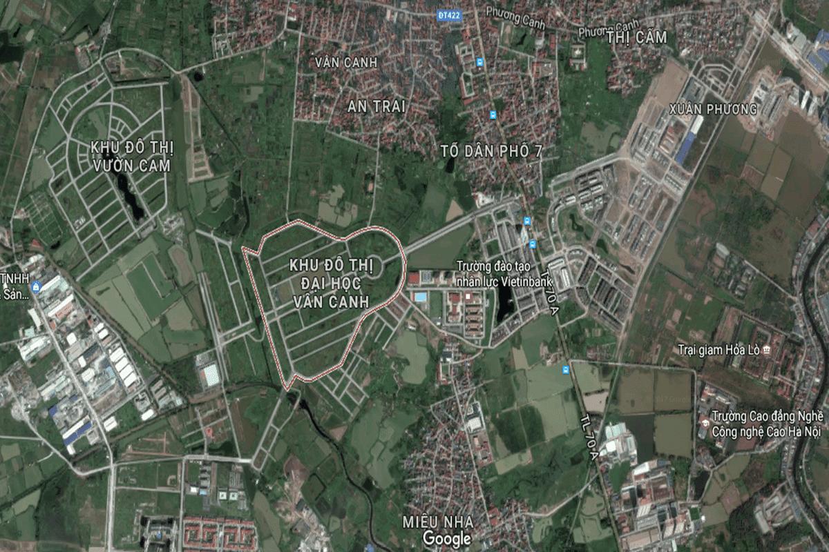 Vị Trí Khu đô thị Đại Học Vân Canh