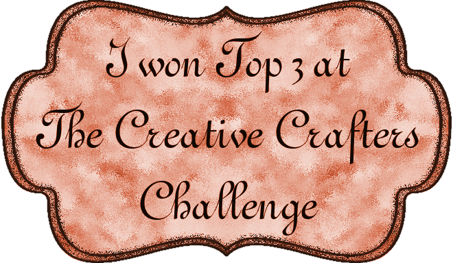 I Won a Top 3 at The Creative Crafters