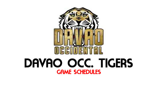 LIST: Game Schedule Davao Occidental Tigers 2018 MPBL Anta Datu Cup
