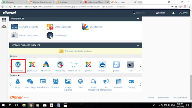 Kelas Informatika - Fitur Auto Installer Wordpress