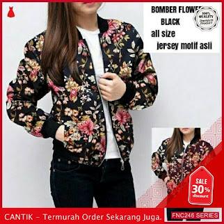 FNC246B62 Bomber Flower Jersey BMGShop Wanita L murah Serba 60 Ribuan