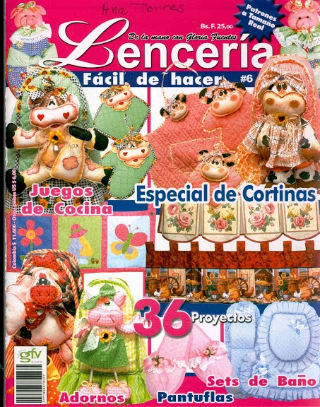 Revista Lencería para el hogar gratis - Revistas de manualidades Gratis