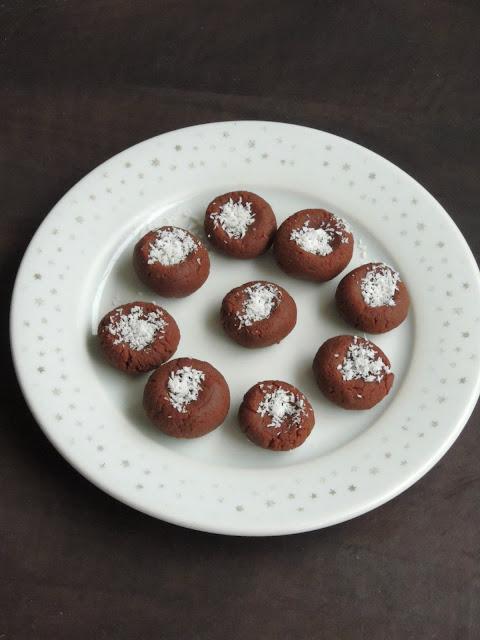 Easy chocolate coconut peda