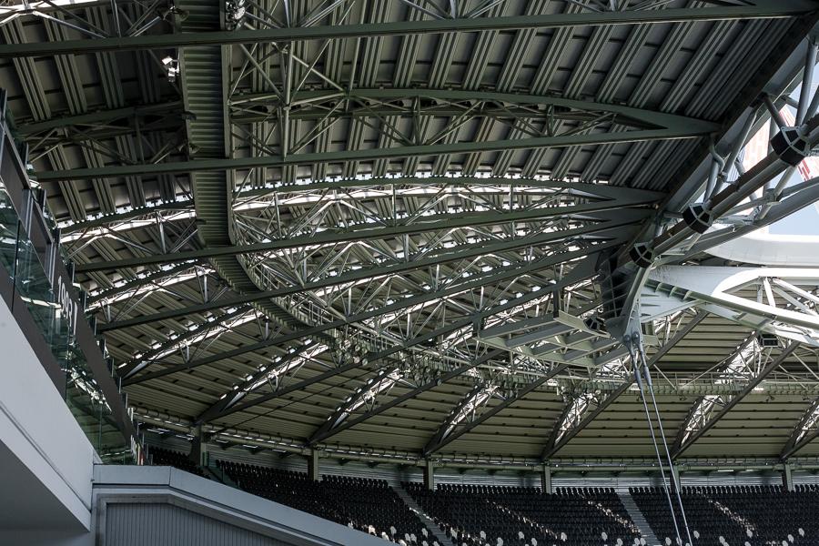 juventus stadium struttura copertura