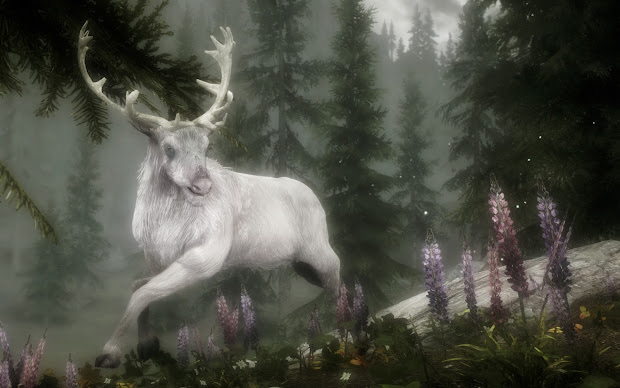 Oak And Antler Spirit Of Forest - White Stag