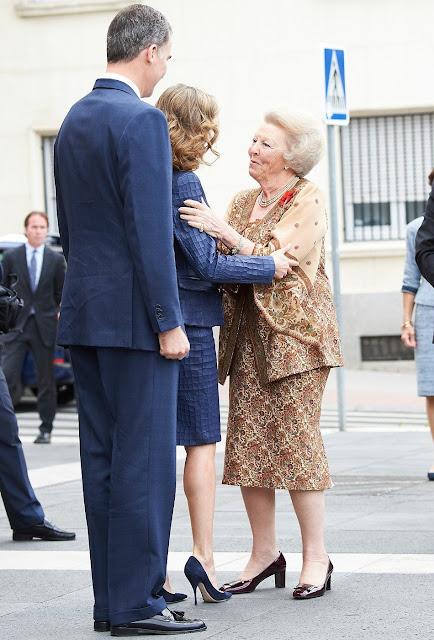 King Felipe, Queen Letizia, Princess Beatrix attended the opening of the exhibition El Bosco, the 5th Centenary Exhibition at Prado Museum