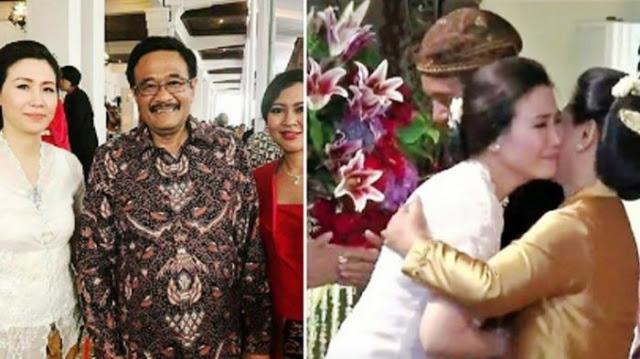 Mengharukan! Ke Pernikahan Kahiyang-Bobby, Veronica Tan Menangis Dipelukan Iriana
