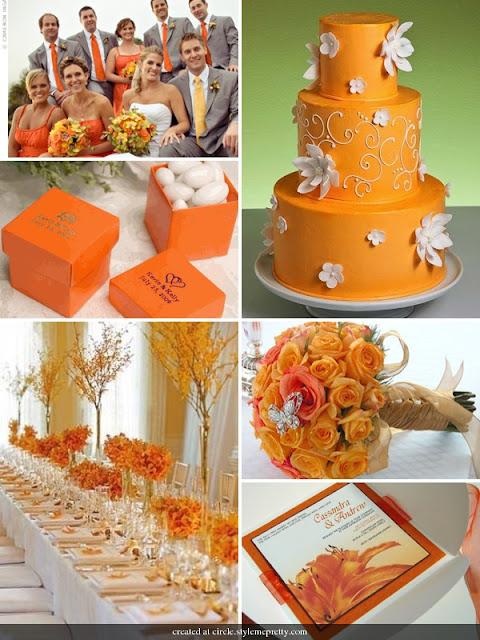 Decorar Boda Tonos Naranja Wedding Orange Ideas Para La