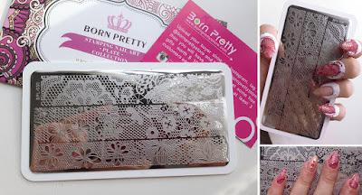 Born Pretty Store Lace Stamping Plate BPL 030 Mundo Konad image design