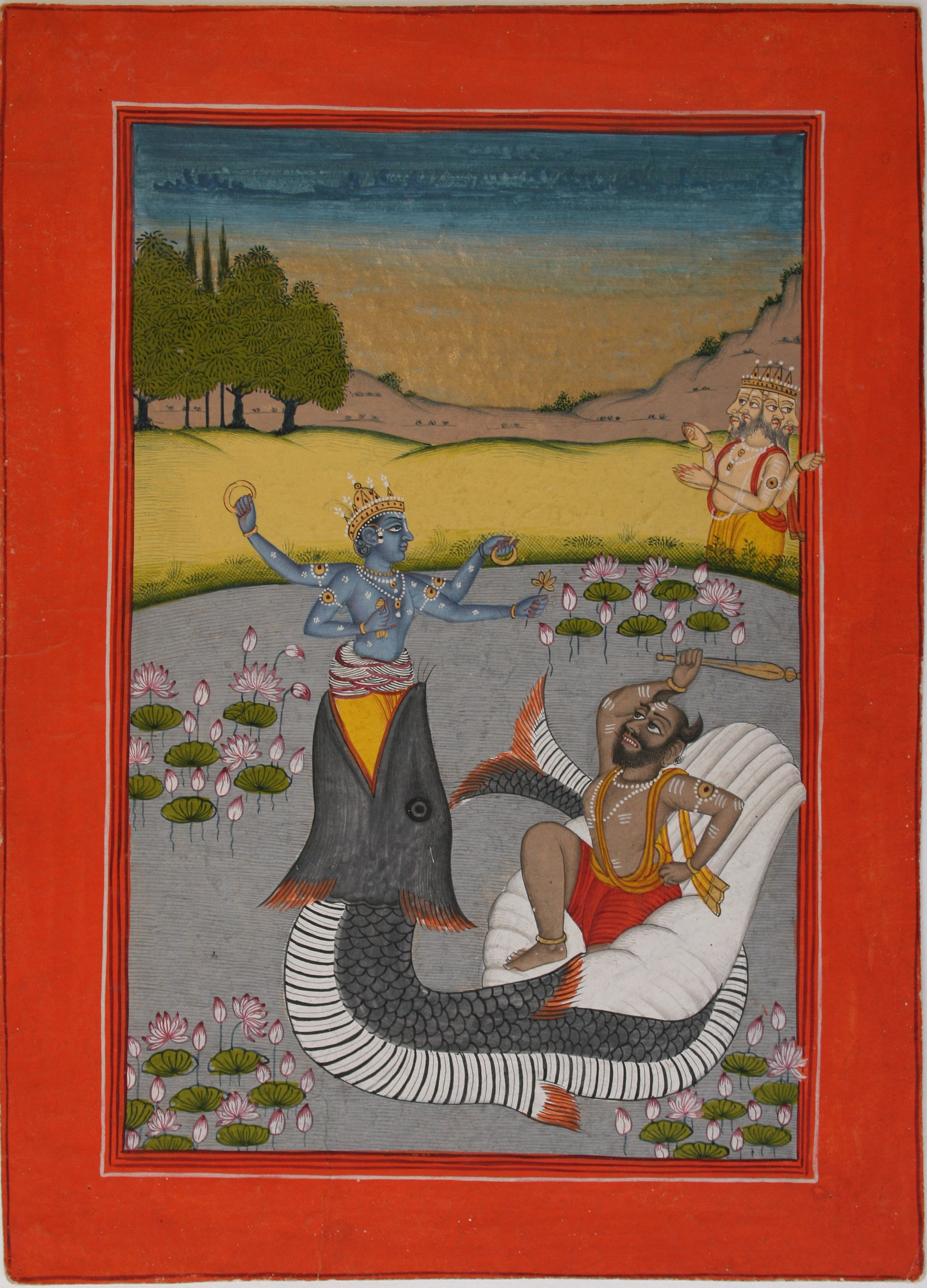 Matsya Avatara of Vishnu (Folio from a Dasavatara series) - Datia, circa 1800