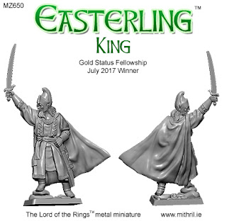 MZ650 Easterling king Mithril miniature.