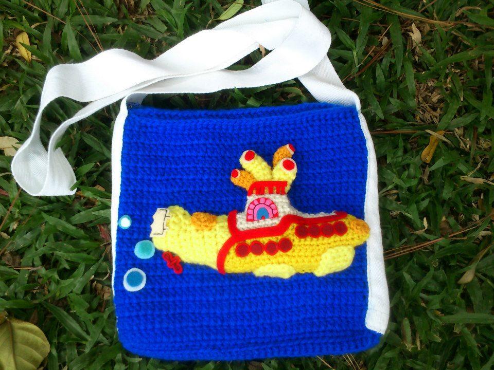 Crochet Yellow Submarine | Chaveiro de croche, Artesanato ... | 720x960