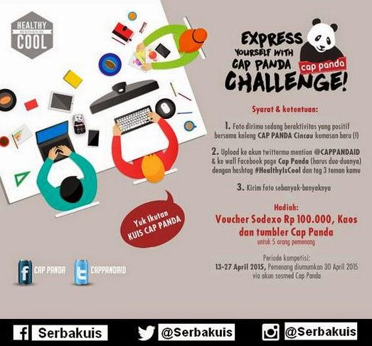 Kontes Foto Cap Panda Challenge Hadiah Voucher Sodexo
