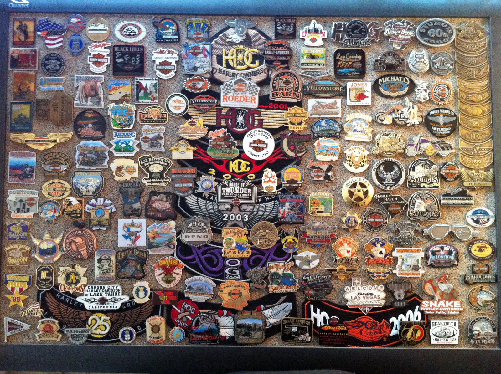 harley-davidson and associated tales: pins