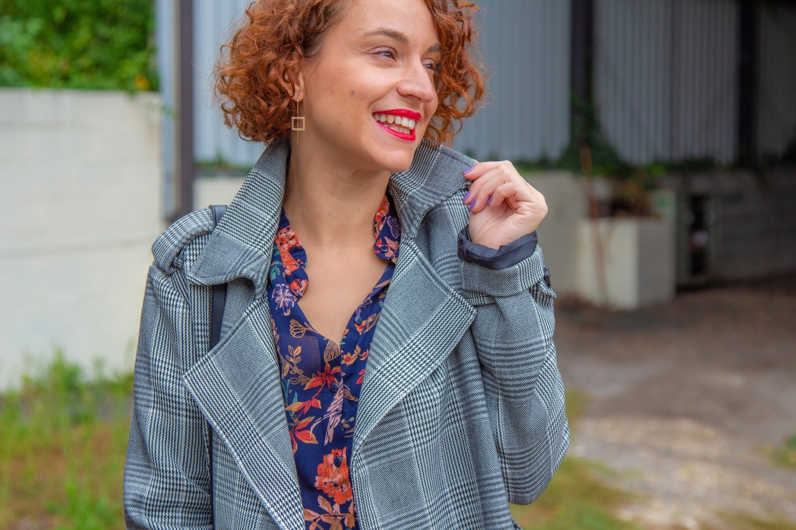 look - trench - a - carreaux - promod