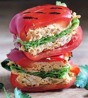 Tuna Tahini Pepper Panini #healthy #lunchbox #dinner #quick #easy