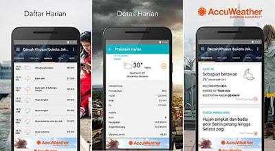 Accu Weather - Aplikasi Cuaca Android