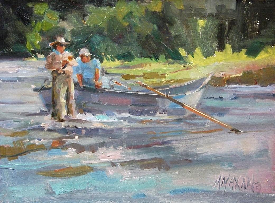Mary maxam paintings november 2012 for Fly fishing art