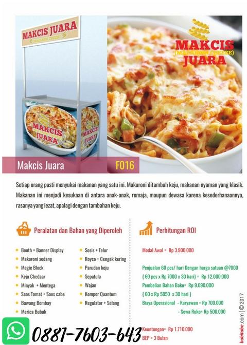 TERLARIS! Paket Usaha Franchise Makanan Bandung ...