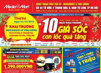 Mẫu tờ rơi đẹp quảng cáo khai trương của Mediamart