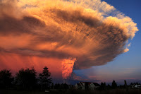 A cloud of ash above Calbuco Volcano