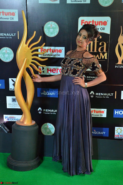 Sanjjanaa Galrani aka Archana Galrani in Maroon Gown beautiful Pics at IIFA Utsavam Awards 2017 02.JPG