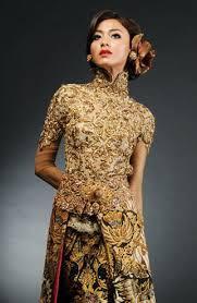 Model Kebaya Pernikahan Modern Gold Terbaru