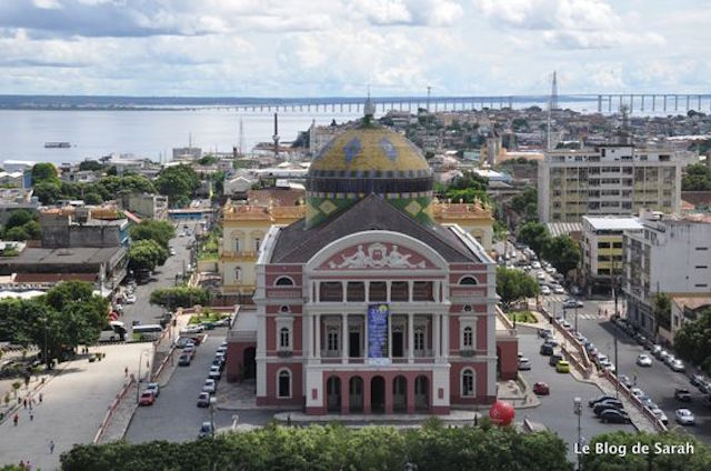 Manaus, Brazil, view over the Opera