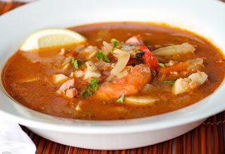 Recette du soupe de poisson et fruits de mer