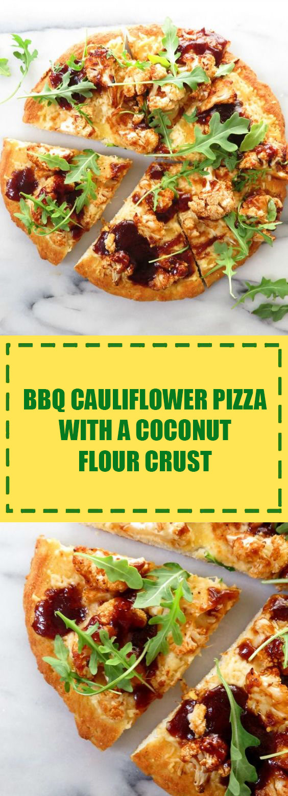 Cauliflower Pizza with a Coconut Crust