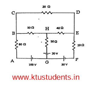 Question Paper for Basics of Electrical Engineering(EE100