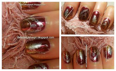 manicure carimbada