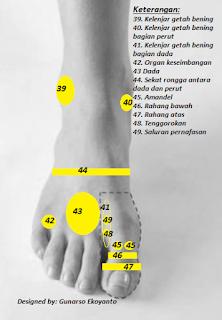 titik refleksi kaki bagian atas
